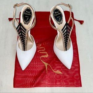 RENE CAOVILLA Crystal Embellished Heels